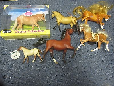 LOT OF 6 Breyer 4 Grand Champion and 1 Blue Bird Horses LOOK!