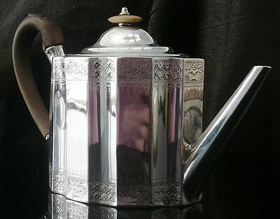 Antique Silver Teapot, Sheffield 1795, Richard Morton & Co