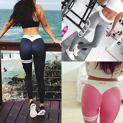 Women Workout Gym Running Pants Yoga Sports Exercise Leggings Fitness Trousers