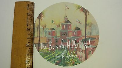 Beverly Hills Hotel Luggage Sticker NOS Sunset Blvd Hollywood Pink Palace