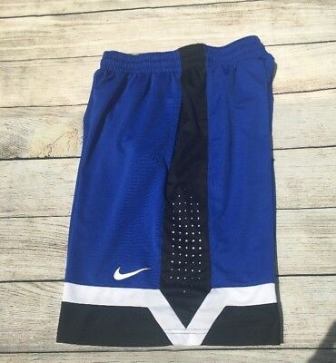 Men's Nike Elite Shorts Dri Fit Athletic Basketball Training Blue Size Large