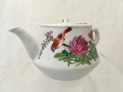 Marked Chinese Famille Rose Teapot 19 Th Late 20 Th Century