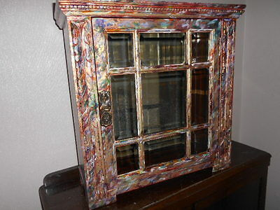 antique painted cabinet