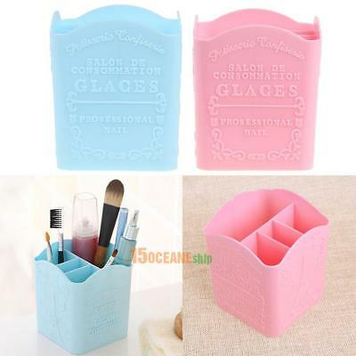 Nail Art Brush Pen Storage Holder Container 4 Compartments Tower Organizer Box