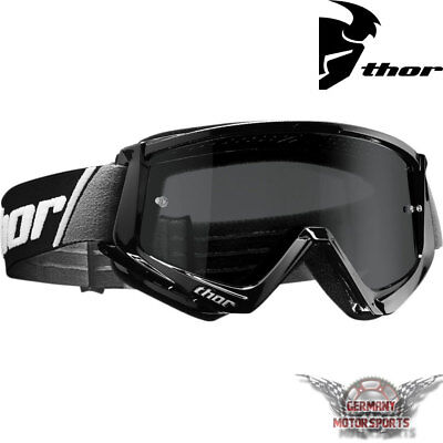 Motocross Brille Crossbrille Goggle Thor Combat Sand Schwarz Cross Offroad Atv
