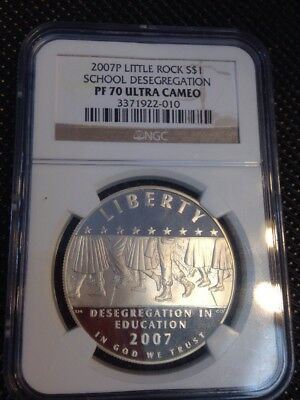2007 P Little Rock School Desegregation Silver $1 PF 70 Ultra Cameo NGC .99 Ship