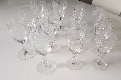 Tiffin FRANCISCAN PETITE Water Goblets (7pcs) and Cordial (8pcs)