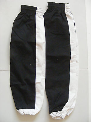 2 x Pairs of Kung Fu Trousers (Size 0 & 1) in Black and White