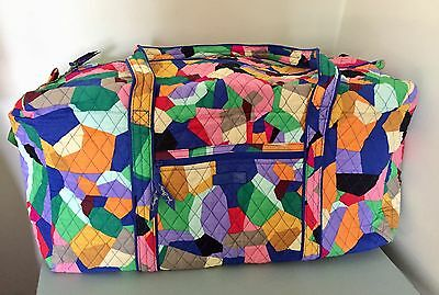 Vera Bradley Large Duffel Bag  Pop Art Luggage Bag NWT