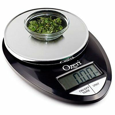 Ozeri Pro Digital Kitchen Food Scale, 1g to 12 lbs Capacity Electronic Black New