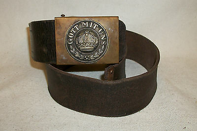 WWI German Belt with Buckle Complete & very nice...LQQK