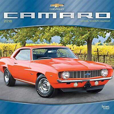 2018 12x12 Monthly Wall Calendar Camaro by Browntrout Classic Vintage Car Fast