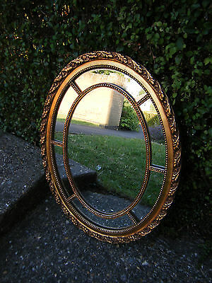 Vintage Fabulous Veronese Gilt Framed Mirror Marked  Made in England
