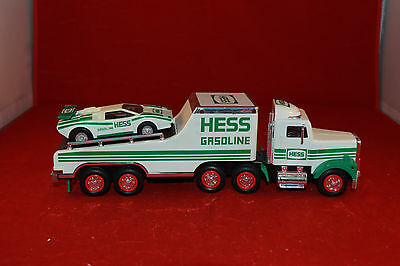 1991 HESS GASOLINE Toy Truck and Racer Car Tested