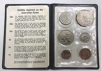 1969 Royal Australian Mint Wildlife Coins - Uncirculated Six (6) Coin Set