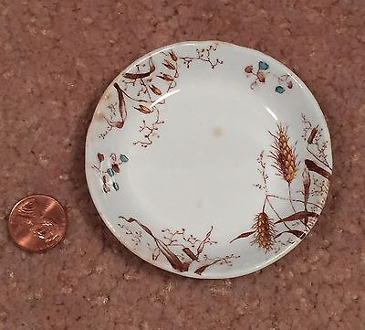 Antique Aesthetic Butter Pat T & R Boote England Harvest Grains