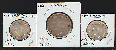 Australia, Lot of 3 Coins