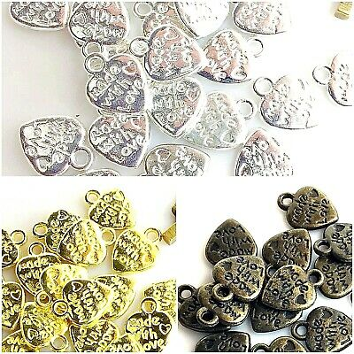 "24pcs 12x9x1mm ""Made with Love"" Heart Charms Pendant Bronze,Copper,Gold,Silver"