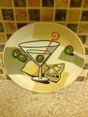 Assiettes Cocktail Martini Plates In Tin Set Of 4 Plates Assiettes