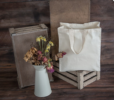 Calico Bags - Shopping Bag @ 400mm W x 400mm H x 100mm gusset