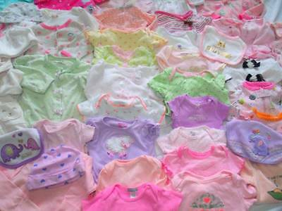 Huge 90 pc Baby Girl Fall clothes NEWBORN lot sz 0-6 Adorable amazing condition!