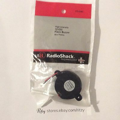 Brand New RadioShack High Intensity 12V DC Piezo buzzer Slow Pulsing # 273-0080