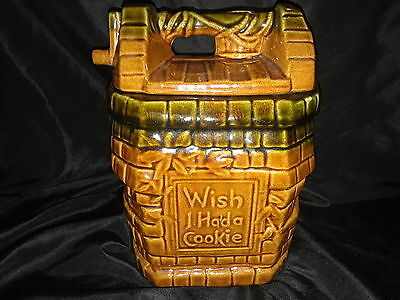 Vintage McCoy Pottery USA I Wish I Had A Cookie Jar Brown Wishing Well