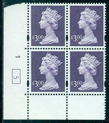 Great Britain Sg-Y1802, Scott # Mh-282 Cyl. Blk/4, Mint, Og, Nh, Great Price!