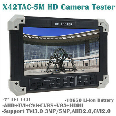 "NEW 7"" LCD Monitor HD-TVI+AHD+CVI+HDMI+CVBS Camera Video CCTV Tester UTP Control"