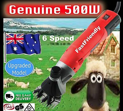 New 500W Electric Sheep Shearing Supplies Goats Clipper Shear Shears Alpaca READ