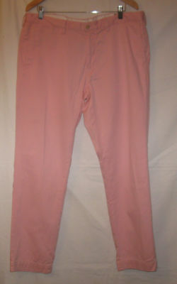 POLO Ralph Lauren Pink Slim Fit Cotton Chino Pants 38X32 Flat Front Mens