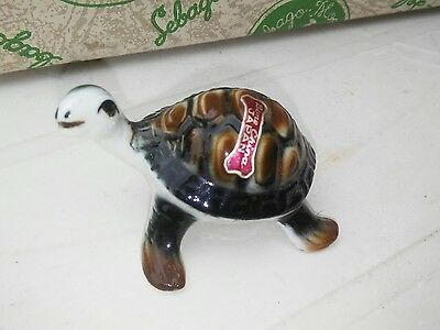 Vintage Bone China Miniature Turtle Japan