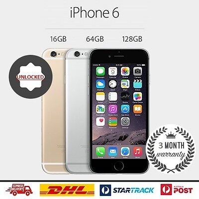Apple iPhone 6 64GB Space Grey Smartphone Unlocked 4G LTE GSM FREE SHIPPING!