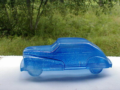 1945 Victory Glass Co. - Miniature Streamline Auto - Car 100% Factory Blue Paint