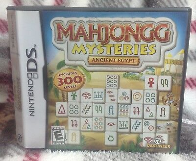 Mahjongg Mysteries: Ancient Egypt 2010 DS Nintendo Game Handheld Great Condition