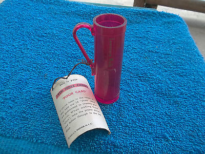 19Th Hole Caddy Pour Card With Shot Glass Has Lawerence Welk On The Side