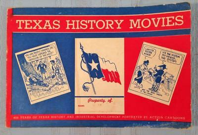 1943 WW II Era Mobil Gas / Oil TEXAS HISTORY MOVIES BOOKLET Comic Book Format