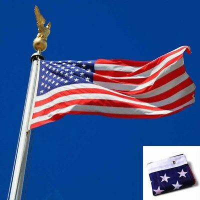 3'x 5' FT American United States US U.S.A Flag Grommets New Brass Stripes