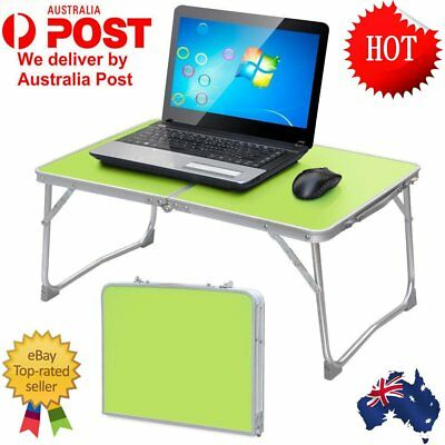 Outdoor Aluminium Folding Portable Laptop Stand Desk Camping Picnic Table Tray M