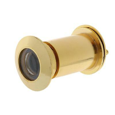 Alloy Adjustable 220 Degree Wide Angle Door Viewer with Privacy Cover_Gold