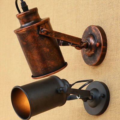 Loft Industrial Adjustable Swing Arm Wall Sconce Stairway Bar Lamp Light Fixture