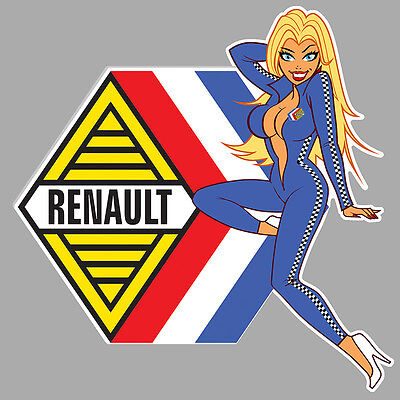 RENAULT left Pin Up gauche Sticker°