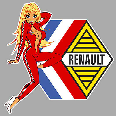 RENAULT right Pin Up droite Sticker°
