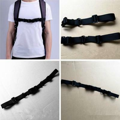 1PC Universal Nylon webbing Sternum Strap Backpack Chest Harness Open Loop JJ