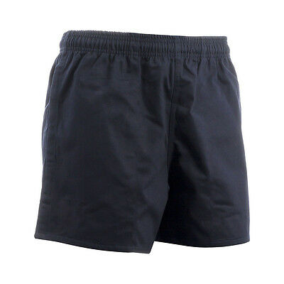 "Rugby Shorts - High Quality Black Unbranded Sports Shorts Sizes 26"" - 42"" NEW"