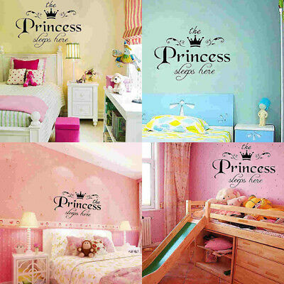 NEW Removable Princess Sleeps Wall Stickers Art Vinyl Decals Baby Girls Room