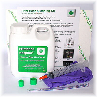 Epson Brother Canon HP Print Head Cleaning Kit. 500ml Inkjet nozzle unblock