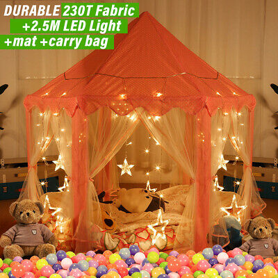 198 Sold LED Light Princess Castle Play Tent Fairy House Children Kid Canopy Toy