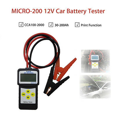MICRO-200 12V Auto Car Battery Load Tester Analyzer W/Printer Function 7-30VDC