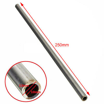 Silver 304 Stainless Steel Capillary Tube 12mm OD, 10mm ID, 250mm Length